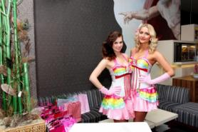 Hostesses wore thematic sweet costumes.